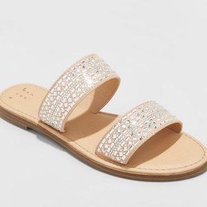 A New Day Kersha Embellished Slide Sandals